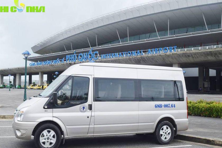 xe 16 chỗ đón tiễn sân bay phú quốc