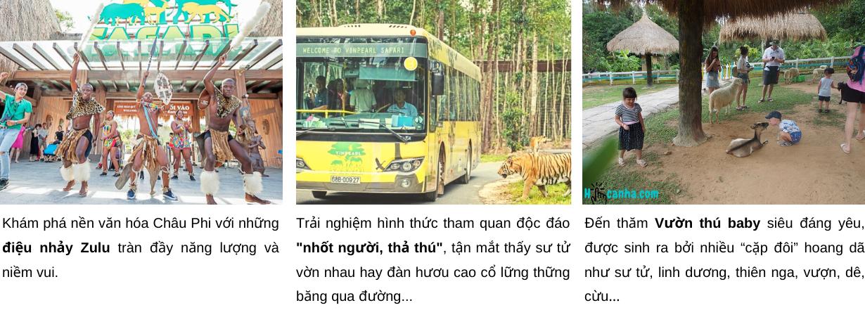 vé Combo Vinpearl Safari Phú Quốc