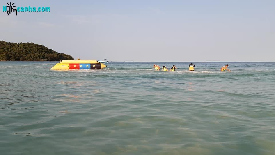 Cano kéo phao chuối tại Sun world Phú Quốc