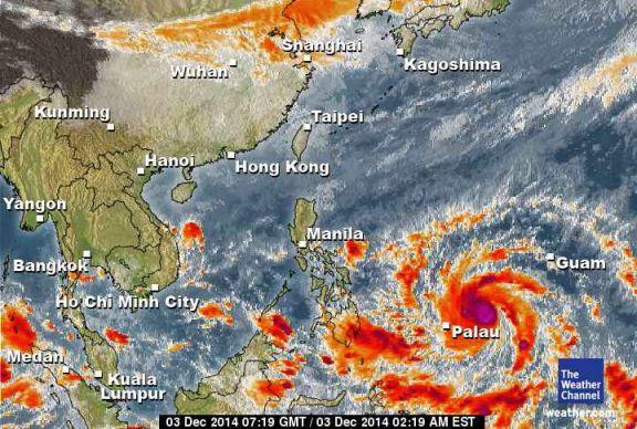 Thời tiết 7 ngày tại phú quốc - Ảnh vệ tinh Asiasat