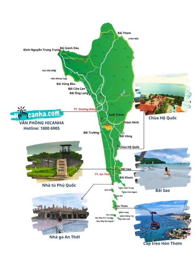 lịch trình tham quan tour phú quốc trong ngày
