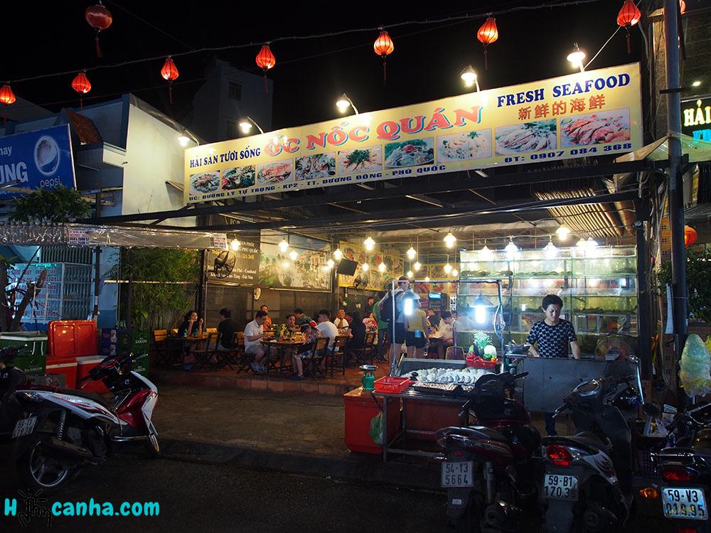 quán ốc nốc chợ đêm - ăn gì ở phú quốc