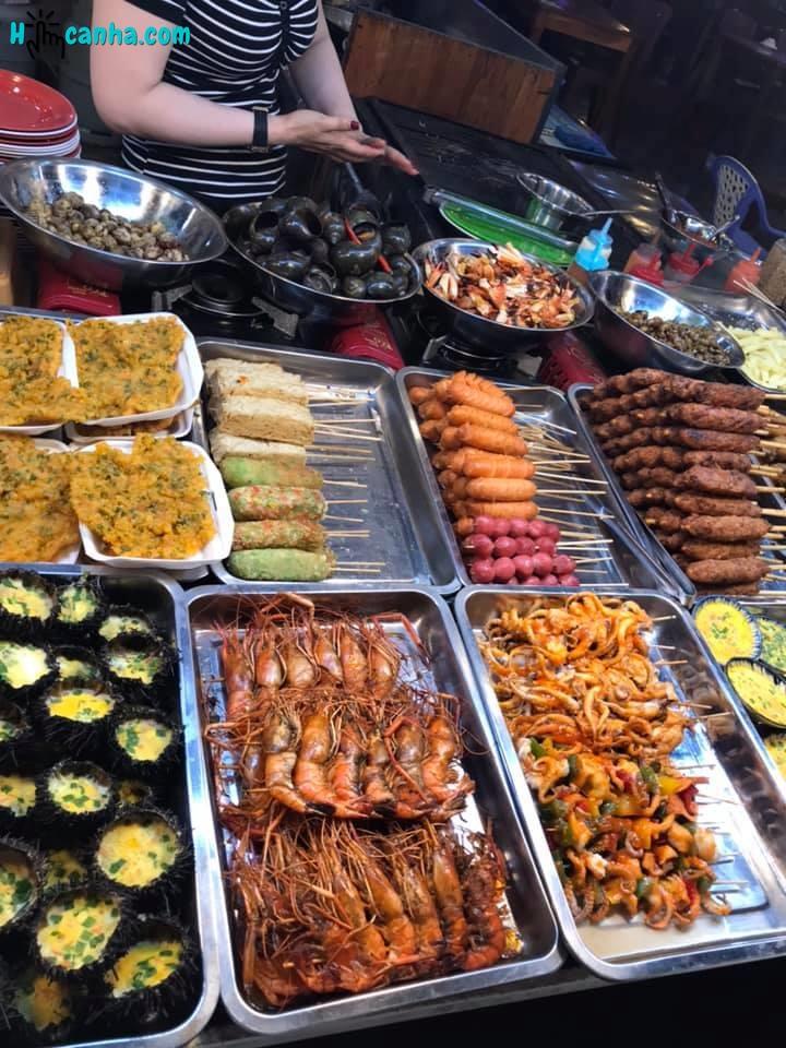các món ăn vặt tại chợ đêm